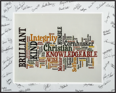 The wordle from Tim's service