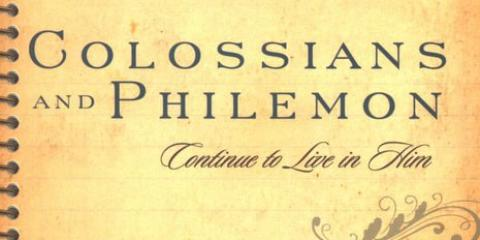 Colossians Philemon Women's Bible Study Winter 2016