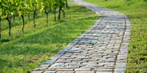 stone path in a vineyard