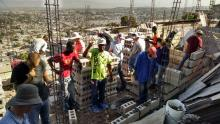Haitian workers and team working